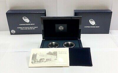 2013-W  Eagle West Point Two Coin Silver Set ,OGP, COA & CAPSULES BOX .NO COINS Coin Box Coa No Coins