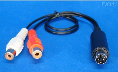 ZAPCO SYMBILINK RCA ADAPTER 6-PIN DATA DIN CORD CONVERTER SLDIN.T SLRCM SLRCF-01