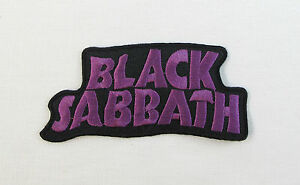 Black Sabbath Purple Iron On Sew On Embroidered Patch Rock Band