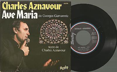 "X1 Vinyl 7"" Single 45, Charles Aznavour / Ave Maria de Georges Garvarentz"