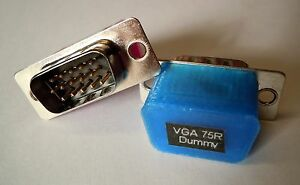 VGA Dummy Plug, Headless, Bitcoin Litecoin mining, GPU detection Video, 75 Ohm
