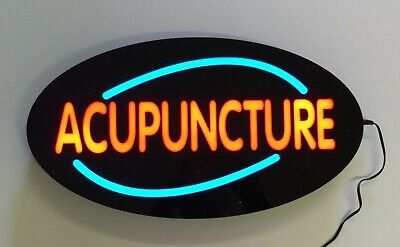 Led Neon Light Acupuncture Business Sign With Remote Control.