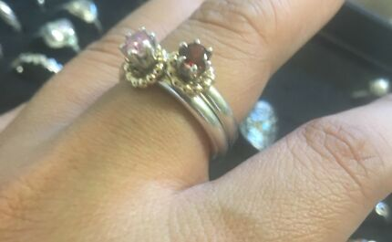 Pandora two tone halo rings s58 Darra Brisbane South West Preview