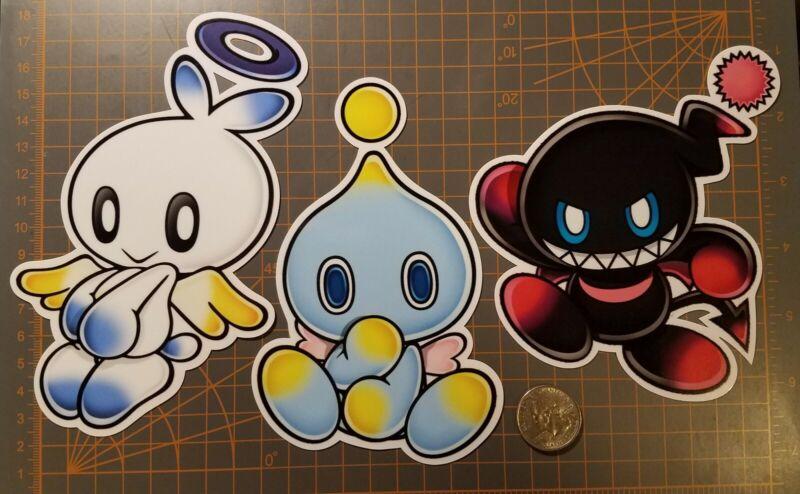 Sonic The Hedgehog Chao Stickers Hero Dark Chao