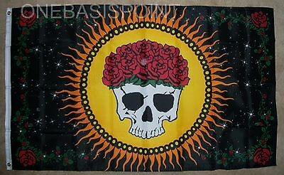 3'x5' Graciously Departed Flag Day of the Dead Skull Dia de los Muertos 3X5](Dia De Los Muertos Flags)