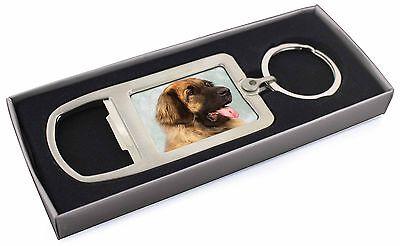 Blonde Leonberger Dog Chrome Metal Bottle Opener Keyring in Box Gift , AD-LE1MBO