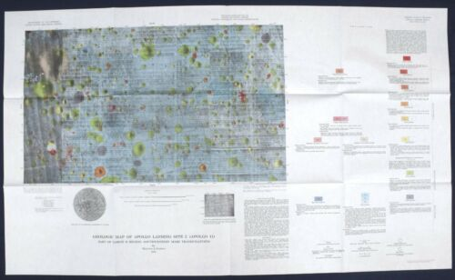 APOLLO 11 LANDING SITE GEOLOGIC MAP Vintage PRE-MISSION Complete Set 1970