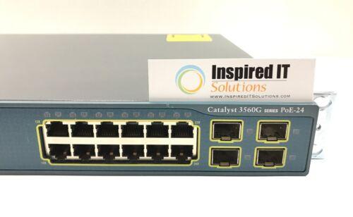 Ws-c3560g-24ps-s - Cisco Catalyst 3560g 24 10/100/1000t Poe + 4 Sfp + Ipb Image