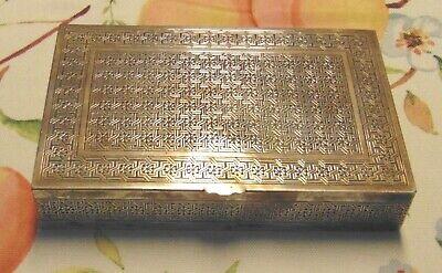 ANTIQUE PERSIAN SILVER Cigarette Box 330 GRAMS Lot C