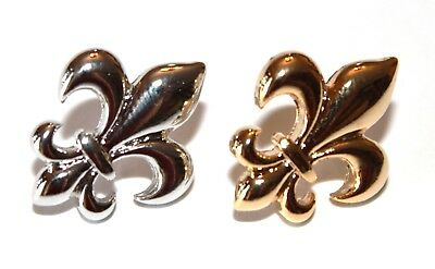 Fleur de lis Post Earrings- Choose Silver, Gold, or Black