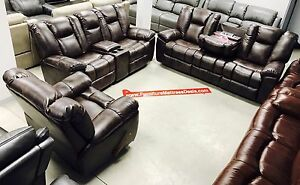 Brand New leather/fabric living room sets ranging $1900-$3600