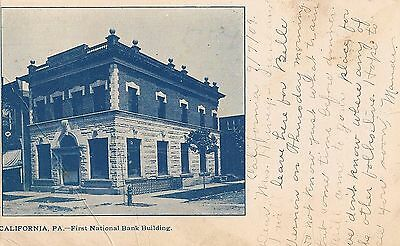 First National Bank Building In California Pa Postcard 1909