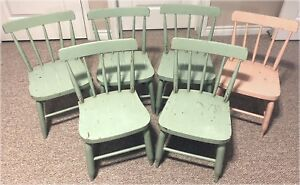Hardwood Bass River children's chairs - Six available