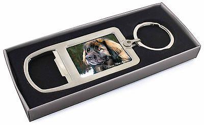 Black Leonberger 'Love You Mum' Chrome Metal Bottle Opener Keyring, AD-L56lymMBO