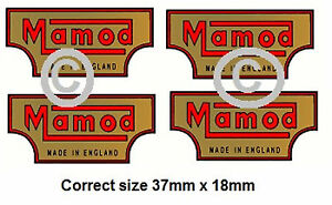 Mamod Decals Logos steam  x 4. Mamod Spares and Parts.
