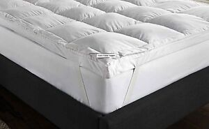 Goose feather down mattress topper white all sizes available - Surmatelas plume d oie ...