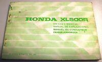 Honda Xl 500 R Libretto Uso E Manutenzione Originale - honda - ebay.it