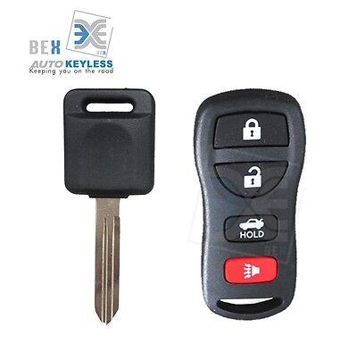 Keyless Entry Remote & Uncut Key Chip Transponder Ignition For Nissan 03-09 350Z