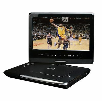 "New Blu-Ray DISC/DVD Player Swivel Screen Maxmade Portable 10.1"" Black BDP-M1061"