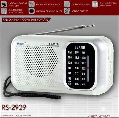 Radio Portatil Analogica 3 Bandas - FM / AM / SW -...