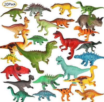 20x Dinosaurier Dino groß bunt Farben Mitgebsel Kindergeburtstag Tierfiguren Set