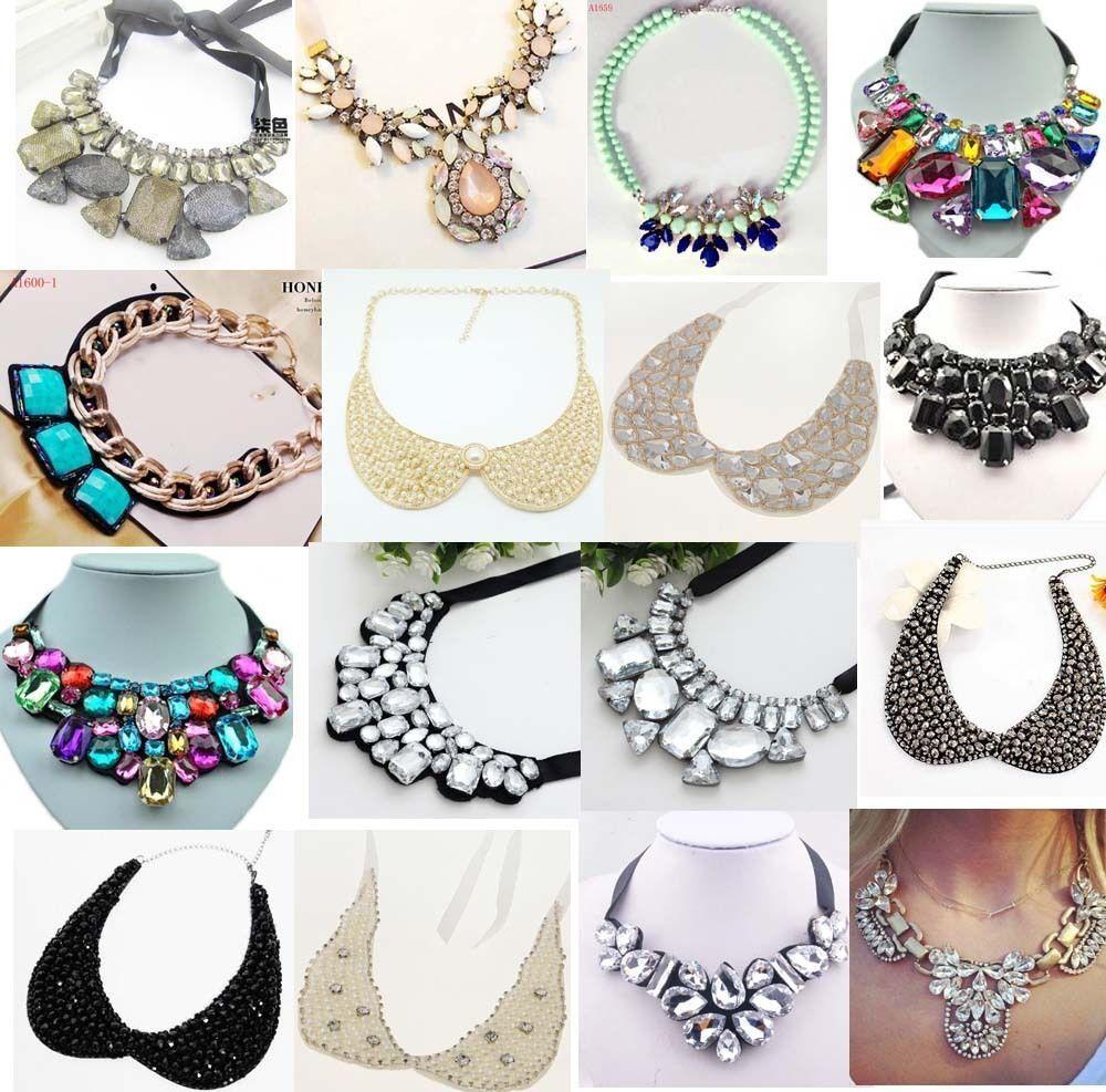 Jewellery - Fashion Charm Jewelry Crystal Chunky Statement Bib Collar Chain Choker Necklace