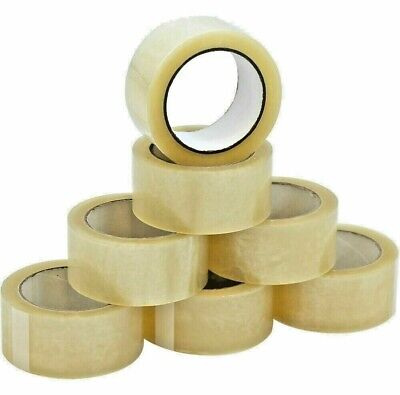 12 Rolls Heavy-duty Packing Tape Strong Clear Carton Box Move Shipping Sealing