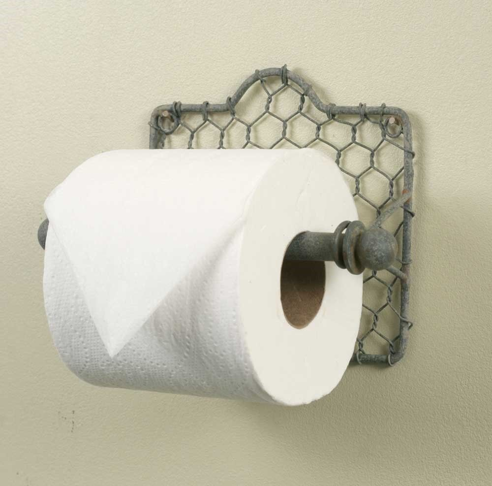 Rustic Chicken Wire Toilet Paper Holder Wall Mounted Holder