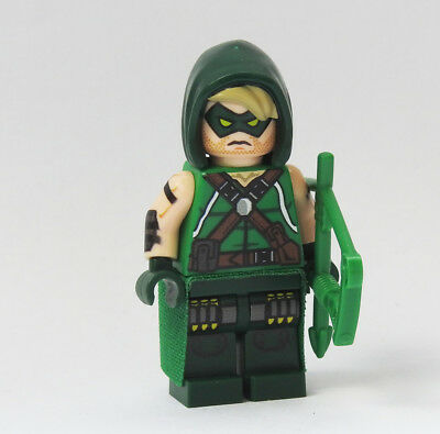 Custom Comic Green Arrow DC Super heroes minifigures superman hawkeye lego briks