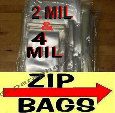 Clear Zip Lock Reclosable Bags 2-mil 4-mil Heavy-duty Plastic Zipper Seal Bags
