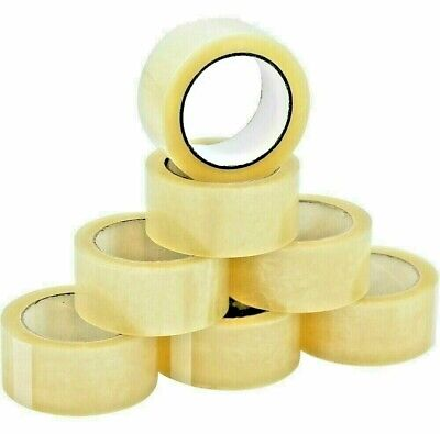 1-2-3-4-5-6-12-18-24-36-48-72 Rolls Heavy-duty Packing Tape Strong Clear Carton