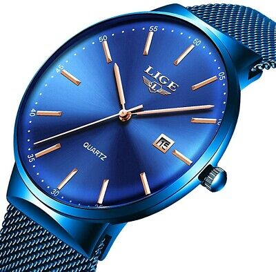 LIGE watches for men, new luxury watch, fashion sports quartz watch for men