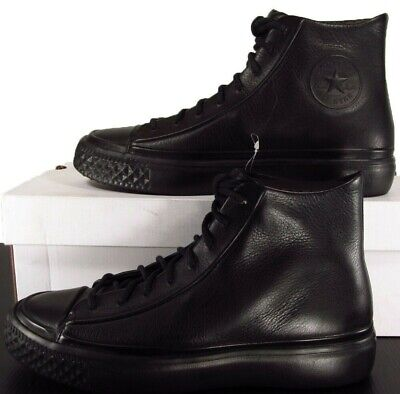 Converse Modern Hi Chuck Taylor All Star Black Luxe Leather Sneaker 10 MEN