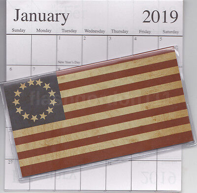 2018-2019 Americana Star Flag 2 Two Year Planner 2018-19 Monthly Pocket Calendar