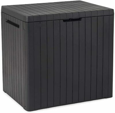 Keter Storage Box Outdoor Entryway Trunk Chest Bench Box Patio, Garden,145L Grey
