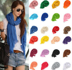 Fashion-Womens-Soft-Wrinkle-Cotton-Blend-Scarf-Wrap-Shawl-85x150cm