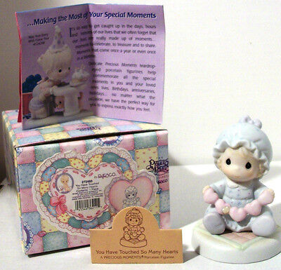 Precious Moments YOU HAVE TOUCHED SO MANY HEARTS~Baby~Retired~Sam Butcher~MIB