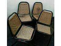 Set of 4 x Vintage Chairs. Indoor/Outdoor