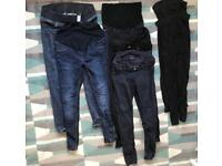 Maternity jeans trousers leggings bundle size 12