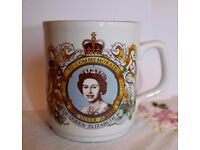 Queen Elizabeth II Silver Jubilee Mug