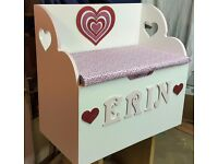 TOY BOXES - Hand made and personalised to your requirements.
