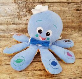 Baby Einstein Multi-Lingual Octopus Toy Talks English French Spanish VGC