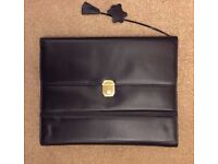Real leather A4 document holder/ executive portfolio/ note pad