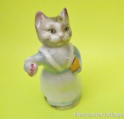 "Beatrix Potter ""Tabitha Twitchett"" Cat Figurine Beswick England DAMAGED BP3b"