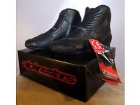 Alpinestars SMX-1 R Low Cut Ankle Motorcycle Boots - Brand New - EU 44 / UK 9 - BB Bike Leathers