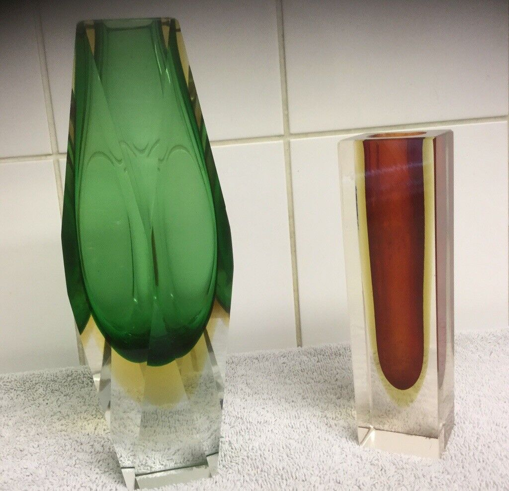 Two murano sommerso faceted glass vases in norwich norfolk two murano sommerso faceted glass vases reviewsmspy