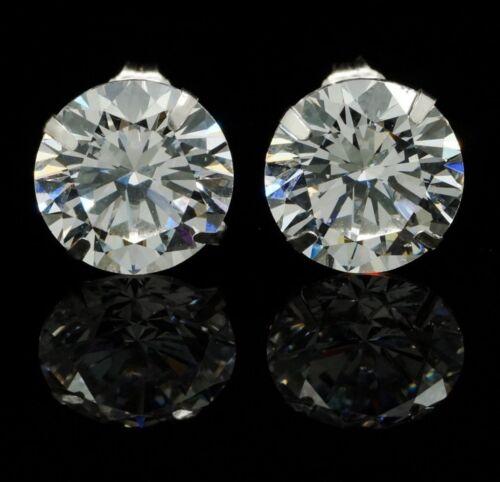 8Ct Created Diamond Round Cut 14K White Gold Round Cut Push Back Stud Earrings