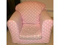 Children's Pink Spotty Armchair