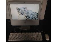 "Apple iMac Desktop Computer PC Keyboard Mouse ""Core 2 Duo"" 2.0 17 Inch A1208"