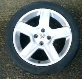 """PEUGEOT 307 17 """" Alloy Wheel with Tyre 215/45 R17"""